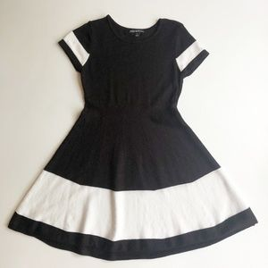 Sequin Hearts Girls S/S Knit Fit & Flare Dress, Sm